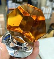 Glass Amber mortice knobs